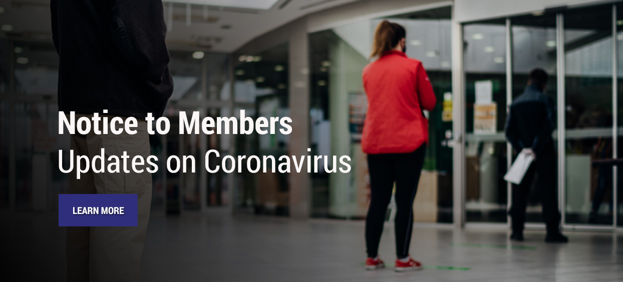 Notice to Members Updates on Coronavirus