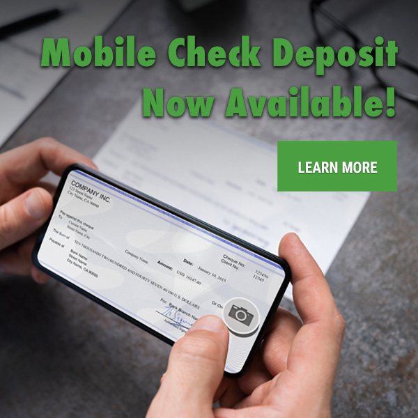 Mobile Check Deposit Now Available