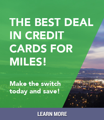 The best deal in credit cards for miles! Make the switch today and save!