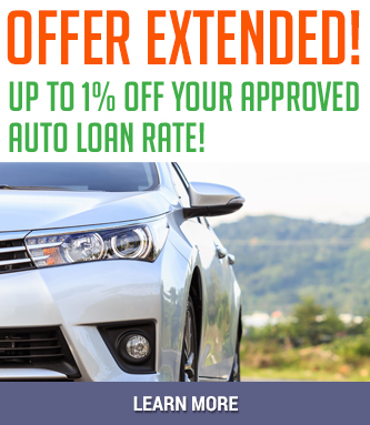 Get up to 1% off your approved auto loan rate!