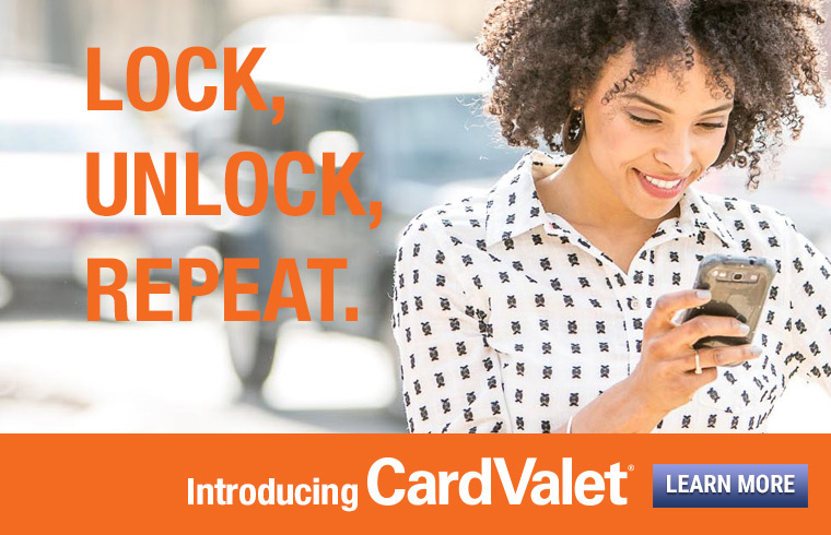 lock, unlock, repeat. Introducing the card valet mobile phone application.