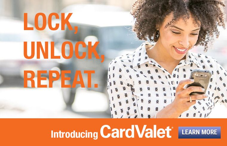 CardValet help you manage your debit cards