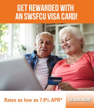 Rewards for all SWSFCU visa cards